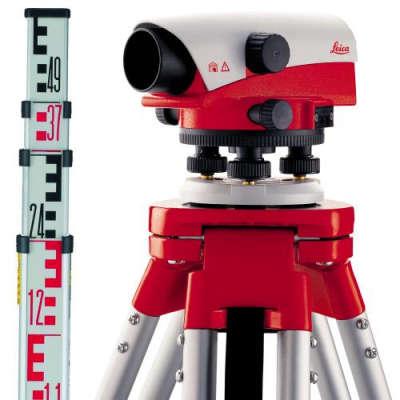 Оптический нивелир Leica NA730plus + штатив + рейка