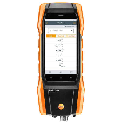 Комплект анализатора дымовых газов Testo 300 LL, (сенсор O2, СО, с H2-компенсацией  до 8 000 ppm) 0564 3004 01