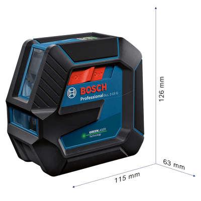Лазерный уровень (нивелир) Bosch GLL2-15 G. Габариты прибора