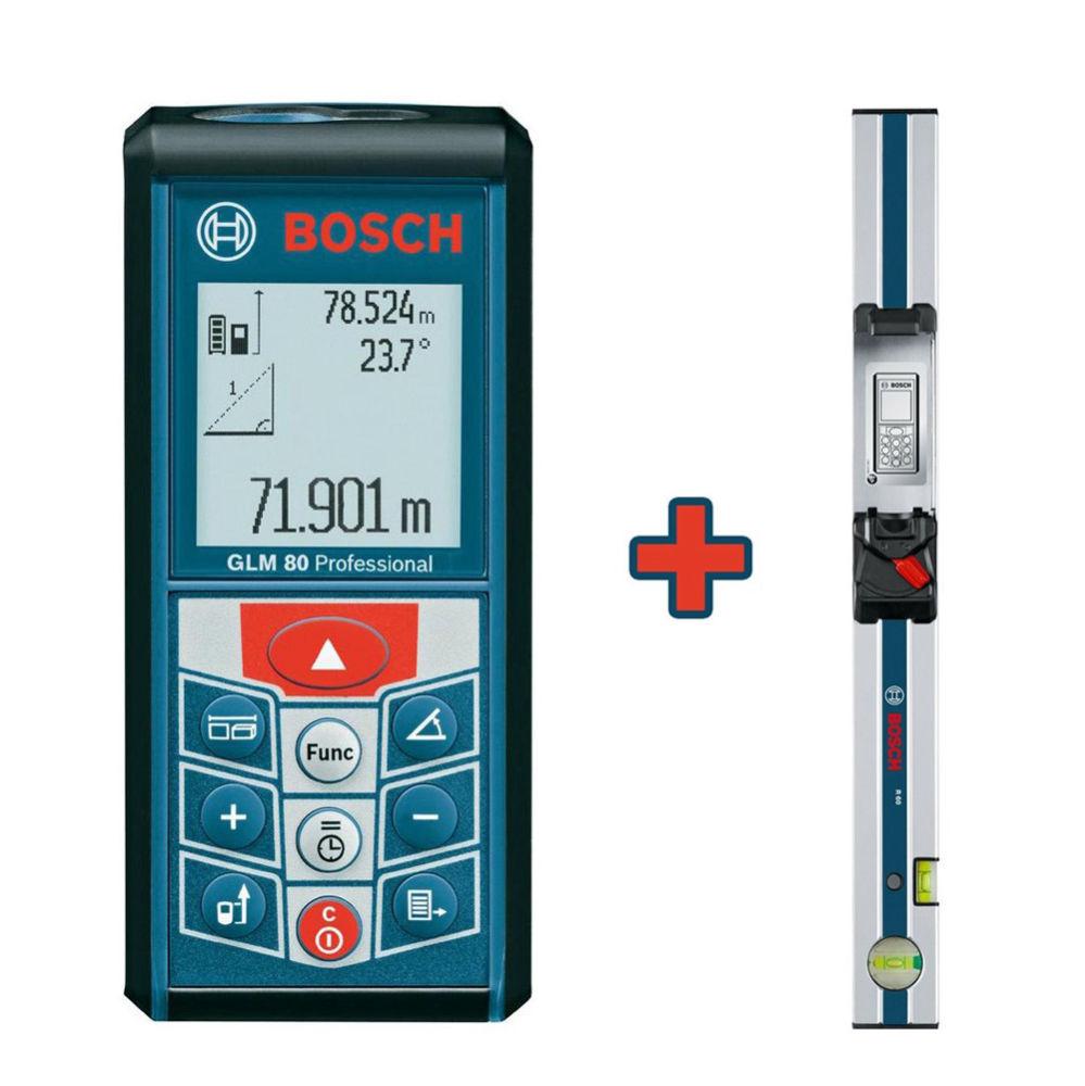 Лазерный дальномер Bosch GLM 80 Professional + шина R60 0.601.072.301