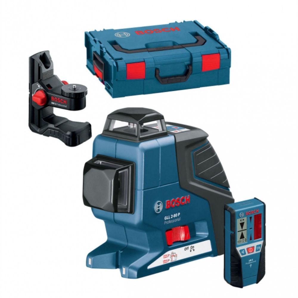 Лазерный уровень Bosch GLL 2-80 P (BM1, LR2, L-Boxx) 0601063209